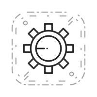 Icona delle impostazioni vettoriali