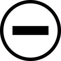 Icona di vettore meno