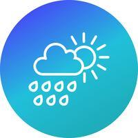 Icona di vettore di pioggia estiva