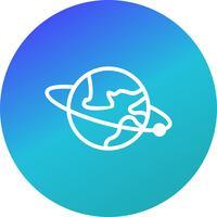 Orbita intorno all'icona di vettore di terra