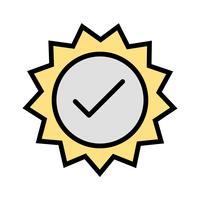Icona di timbro valido vettoriale