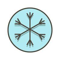 Icona di vettore di neve