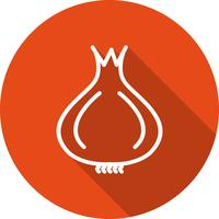 Icona di cipolla vettoriale