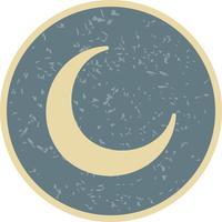 Icona di vettore di luna nuova