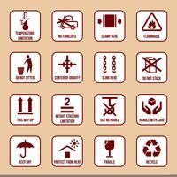 Icone di gestione e imballaggio vettore