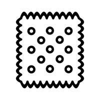 Icona del biscotto di vettore