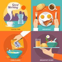 Icona della colazione piatta vettore