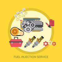 Progettazione concettuale dell'illustrazione di servizio di iniezione di combustibile