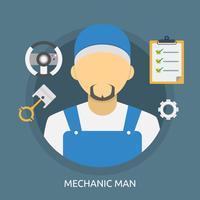 Disegno concettuale dell'illustrazione dell'uomo del meccanico vettore