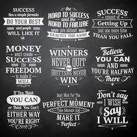 Set di lavagna di citazioni di successo