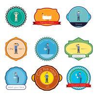 Set di etichette di igiene