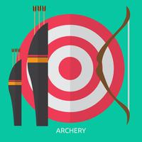 Disegno dell'illustrazione concettuale di tiro con l'arco vettore