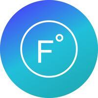 Icona di vettore di Fahrenheit