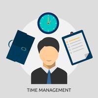 Progettazione concettuale dell'illustrazione della gestione di tempo