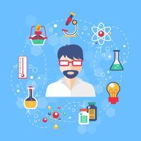 Illustrazione del concetto di chimica vettore