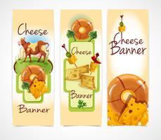 Banner di formaggio verticale vettore