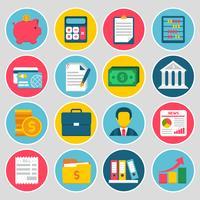 Set di icone di contabilità