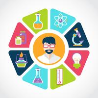 Illustrazione del concetto di chimica