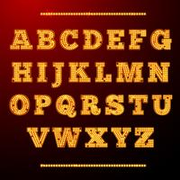 Alfabeto luce lampada