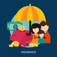 Progettazione dell'illustrazione concettuale di assicurazione vettore