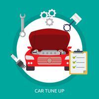 Progettazione concettuale dell'illustrazione di Tuneup dell'automobile