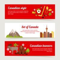Set di banner del Canada vettore
