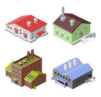 Edifici industriali isometrici