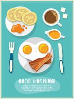 Poster icona di colazione vettore