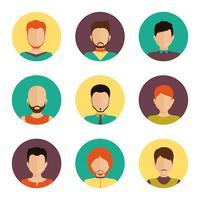Set di avatar di uomini