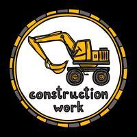 Schizzo di lavoro di costruzione di edifici di architetto