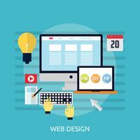Progettazione dell'illustrazione concettuale di web design