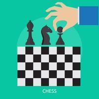 Progettazione concettuale dell'illustrazione di scacchi vettore