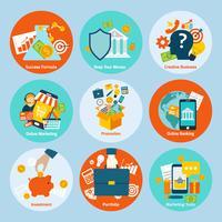 Set di concetto di business