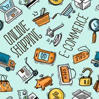 Modello dello shopping online vettore