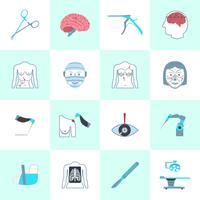 Set di icone di chirurgia