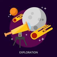 Progettazione dell'illustrazione concettuale di esplorazione