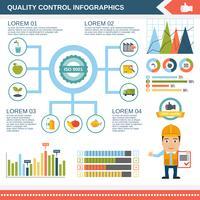 Infografica di controllo qualità vettore