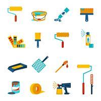 Icone di pittura piatte