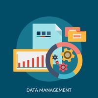 Progettazione dell'illustrazione concettuale della gestione dei dati vettore