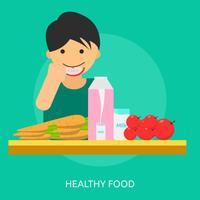 Progettazione dell'illustrazione concettuale dell'alimento sano