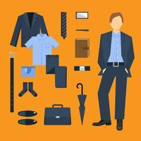 Set di vestiti da uomo d'affari vettore