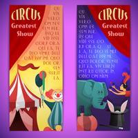 Banner di circo verticale vettore