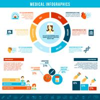 Infografica test medici vettore
