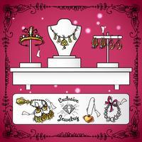 Esposizione del negozio di gioielli