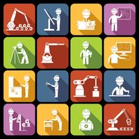 Icone di ingegneria bianche