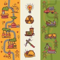 Banner di schizzo industriale