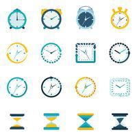 Icona piatta dell'orologio vettore