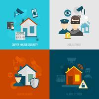 Set di sicurezza domestica piatta
