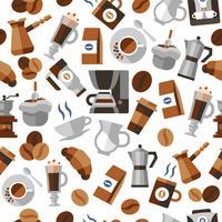 Seamless pattern di caffè vettore