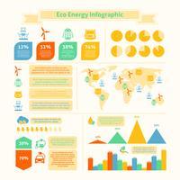 Stampa infografica di energia ecologica vettore